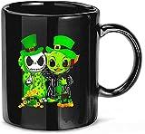 #Jack Skellington e Baby #Yoda St Patrick 's Day Tazze da caffè in ceramica tazze