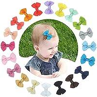 20 Piezas bebé niña Lazos para el pelo Boutique cinta, Multicolor Clips para adolescentes Niños Amigos
