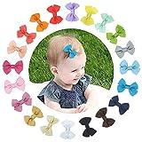 20 Piezas bebé niña Lazos para el pelo Boutique cinta, Multicolor...
