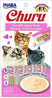 INABA CHURU PUREE TUNA WITH SALMON RECIPE CAT TREATS 4x15g