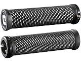 ODI MTB Griffe Elite Motion Lock-On 2.1, 130mm Schwarze Klemmringe, D33MTB-B Asas, Unisex Adulto, Negro, 130 mm