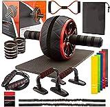 FAHMOH - Juego de gimnasio 17 en 1 para el hogar y aparatos de fitness   Entrenamiento abdominal y muscular con manual de entrenamiento (idioma español no garantizado)
