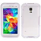 Banath Étui Étanche Coque Samsung Galaxy S5/i9600, IP68 certifié Housse Etui Imperméable Waterproof Full Body Edge Case Antichoc(Blanc)