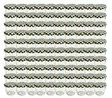 100 Sturzgläser 230 ml Marmeladengläser Einmachgläser Einweckgläser To 82 Grün Karrierte Deckel incl