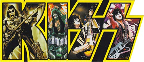 Square Deal Recordings & Supplies - Kiss - Group in Logo - Die Cut Sticker