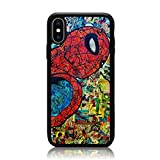 iPhone XR Case, Soft TPU & Hard Back Shock Absorption Scratch Proof Slim Protective Case Cover for iPhone XR 6.1 Inch Spider Man Comic Collage 2018 Release
