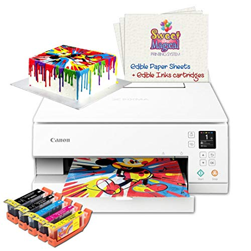 Cake Printer Includes Cake Printer, Cake Cartridges,6 Frosting Sheets, Best Cake Image
