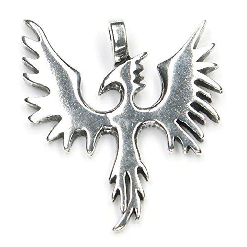 Phoenix Schmuck Silber Anhänger Feuervogel Phantasy Kettenanhänger 925er Sterlingsilber massiv Damen Herren