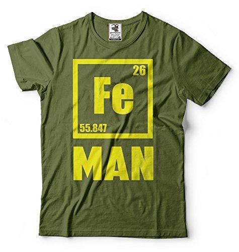 Silk Road Tees Hombres del Hombre del Hierro Camiseta Divertida Ferum Humor Gráfico Camiseta