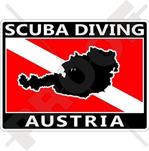 AUSTRIA SCUBA Duiken Vlag-Oostenrijkse Kaart Vorm 100mm (4