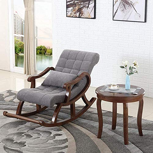 Craftcity Traditional Ergonomic Rosewood Rocking Chair (Brown)