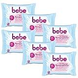 bebe 5in1 Pflegende Reinigungstücher - Abschminktücher für empfindliche & trockene Haut - 6 x 25 Stück