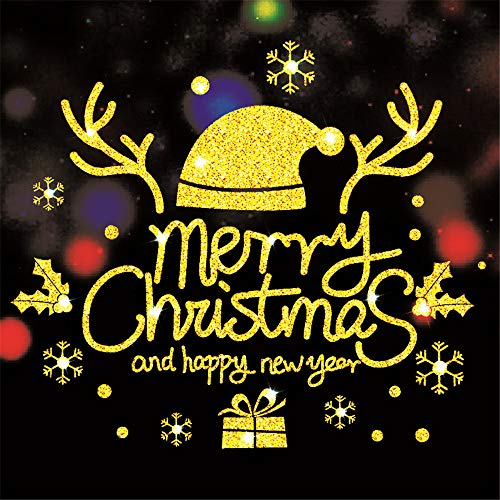 Amphia Weihnachten Dekoration - 2019 Merry Christmas Haushalts ZimmerWand Aufkleber Wandbild Dekor Decal Abnehmbare,DIY Handgemalte Digitale Malerei