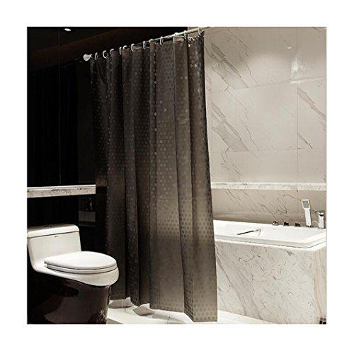 XIAOXINYUAN Der Duschvorhang Am Verdickungs-Transparenten Wasser-Würfel Peva Imprägniern Dunkles Grau & Mehltau mit Haken 180 × 180Cm