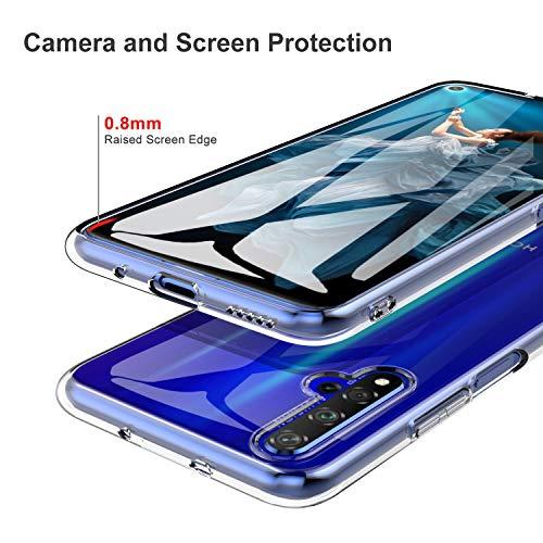 iBetter für Honor 20 Hülle, für Huawei Nova 5T Hülle, Soft TPU Ultradünn Cover [Slim-Fit] [Anti-Scratch] [Shock Absorption] passt für Honor 20 Smartphone, klar - 4