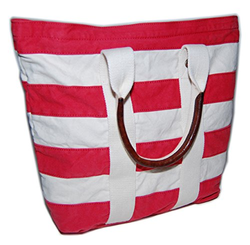 Ralph Lauren Rugby Mens Womens Vintage Nautical Canvas Carryall Tote Bag Red