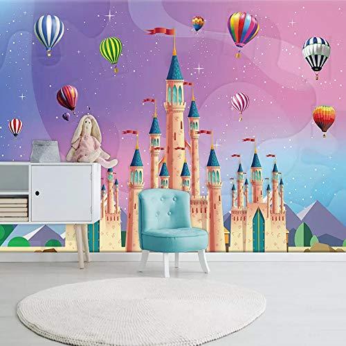 LOVEJJ Fotomural Vinilo para Pared Fondo Castillo colorido Fotomural para Paredes | Mural | Vinilo Decorativo | Decoración comedores, Salones, Habitaciones 250cmx175cm