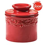 Butter Bell - The Original Butter Bell Crock by L. Tremain, French Ceramic Butter Dish, Antique Collection, Rouge Red