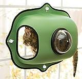 KH 779172 Pets, EZ Window Bubble Pod, Katzen-Fensterbett mit Bullauge, grün