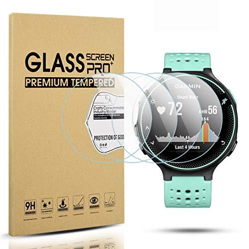 Diruite 4-Pack für Garmin Forerunner 220/225 / 230/235 / 620/630 Panzerglas Schutzfolie, HD Glas Displayschutzfolie für Garmin Forerunner 235 Intelligente Uhr [Anti-Kratzen] [Keine-Blasenfrei]