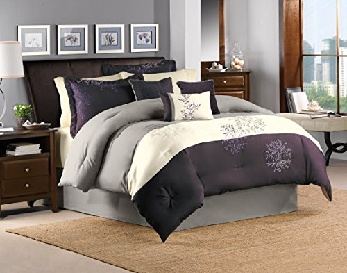 Riverbrook Home Comforter Set, King, Murell-Plum, 7 Piece