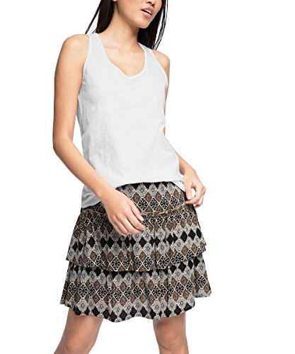 edc by Esprit Basic Camiseta sin Mangas, Blanco (White 100), L (Talla del Fabricante: XL) para Mujer