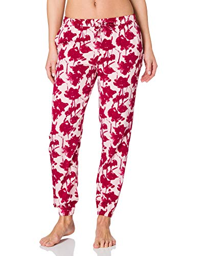 Calvin Klein Jogger Pantaln de Pijama, Fallen Love Print_Sand Rosa, L para Mujer