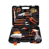 Basong 12pcs Gartenwerkzeug Gartengeräte Set Werkzeugset für Gartenarbeit