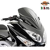 Kappa - Parabrisas bajo y Deportivo Negro Brillante, 59x 45cm (Largo x Ancho), Modelo KD442B, para Yamaha T-MAX 500de 2008a 2011