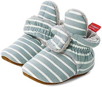 LACOFIA Zapatos de calcetín de bebé Invierno Botas Antideslizantes de Suela Blanda para bebé niño o niña Azul 6-12 Meses