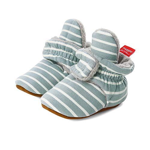 LACOFIA Zapatos de calcetín de bebé Invierno Botas Antideslizantes de Suela Blanda para bebé niño o niña Azul 12-18 Meses