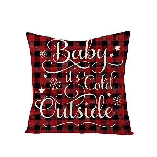 Generies Grand Christmas Elegant Printing Decorative Cushion Cover 45 * 45 Cushion Cover Pillow Cases Cotton Linen Pillow Covers For Sofa Car Home Decor