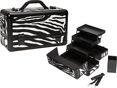 Seya Pro Makeup Train Case w/ Brush Holder (Zebra) by Seya Beauty