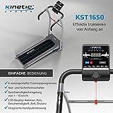 Kinetic Sports KST1650FX Laufband 500 Watt leiser Elektromotor 6 Pogramme, GEH- und Lauftraining, Tablethalterung, stufenlos einstellbar bis 10 km/h, klappbar - 2
