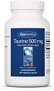 Sponsored Ad - Allergy Research Group - Taurine 500 mg - Energy, Cardiovascular Support - 100 Vegetarian Capsules