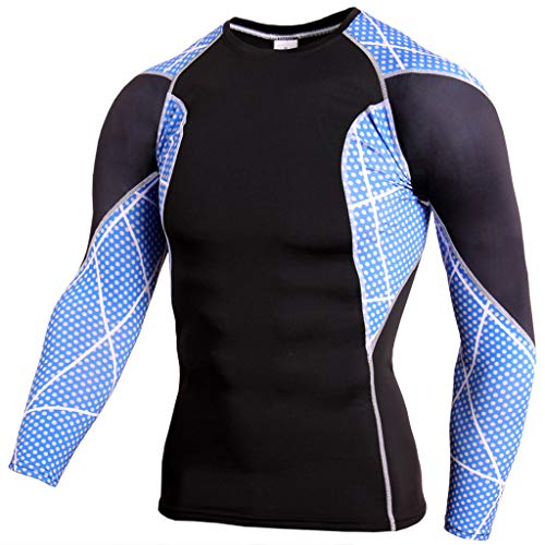 Find Cheap ZIAxiav Men' s Workout T-Shirt, Color Block Patchwork Moisture Wicking Long Sleeve Traini...