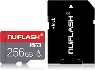 Micro SD Card 256GB TF Card,High Speed Memory SD Card with A Free SD Card Adapter(256GB)