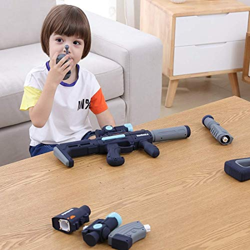 Black Color - Magnetic DIY Build Toy Gun Over 100 Toy Gun Models with Different Sounds Light {Expires 1/21} [Coupon: 40W1OMBV] (45% off) - $27.49