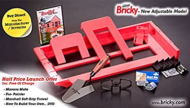 Bricky Pro - Adjustable to build all standard wall sizes 4, 6 & 9. by Bricky Pro