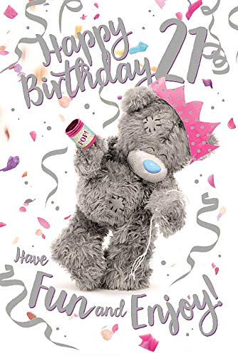 21st 21 Me To You 3D Holographic Hologram Bear Teddy Birthday Card