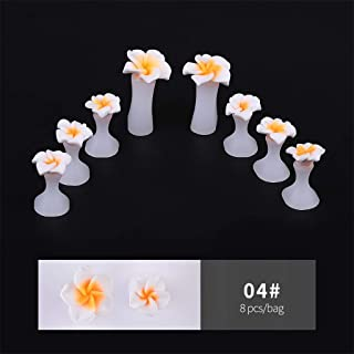 Gotian 8PCS Gel Nail Toe Splitter Daisy Purple And Gold Drop Nail Toe Splitter, for Nail Polish, Simply and Effectively Relieve Foot Pain and Eversion, Keep Your Feet Healthy and Beautiful (D)