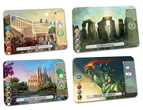7 Wonders Duel: Statue of Liberty, Stonehenge, Messe Essen, Sagrada Familia Promotional Card Bundle (4)