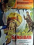 Blonde Fracht für Sansibar - Hildegard Knef - Filmposter