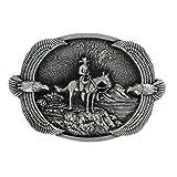 eeddoo Gürtelschnalle - Western Cowboy Eagle (Buckle für Wechselgürtel für Damen und Herren   Belt Frauen Männer Oldschool Rockabilly Metall Gothic Wave Rock Biker Western Trucker Casino Skull)