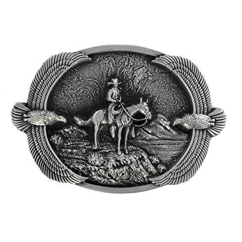 eeddoo Cinturón Hebilla–Western Cowboy Eagle (Buckle para Cambio Cinturón para Hombre y Mujer)