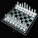 LINWEI Conjunto de ajedrez de Cristal Junta de ajedrez de Cristal de Cristal Piezas de ajedrez de Cristal Conjunto Juego de Mesa de ajedrez Internacional para niños Adultos (Size : 35x35cm)