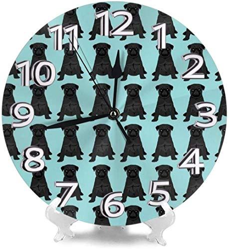 XXNZZJ Co.,ltd Decoración de Relojes de Escritorio para Perros de ajedrez para la Personalidad de la Iglesia del Gimnasio precisa