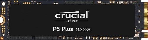 Crucial CT500P5PSSD8 SSD Interne P5 Plus 500Go (PCIe 4.0, 3D NAND, NVMe, M.2) jusqu'à 6600Mo/s
