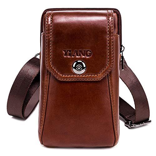 GLASSNOBLE Soporte para móvil, bolsa de hombro para teléfono móvil, bolsa de viaje, para hombre, como se muestra en las imágenes
