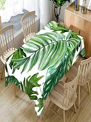 XXDD Mantel con patrón de Plantas Verdes Tropicales, cómodo y Resistente al Agua, Mantel para el hogar, Mantel A2 140x200cm